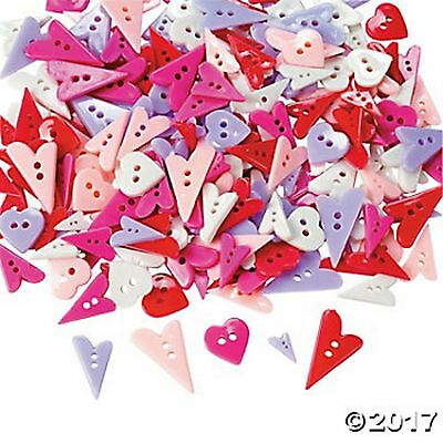 WHIMSY HEART BUTTONS (LOT OF 50 BUTTONS)Assorted Shapes,Colors and Size NEW