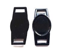 10 X Blank Black Oval Shoelace Paracord Charm 12 X 16 Mm Clear Epoxy Sticker