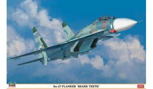 Su-27 Flanker  Shark Teeth  Hasegawa Kit 1 72 HG01995 Model