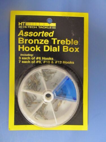 South Bend Assorted Treble Hooks 20pk in dial box