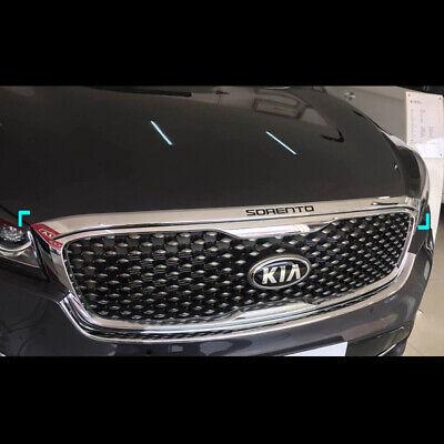 Chrome Front Bonnet Hood Guard Cover Molding Trim for Kia Sorento 2016
