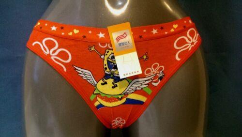 GIRL children/'s underwear spongebob BRIEFS  KNICKERS PANTY LINGERIE SIZE 6-8 //3