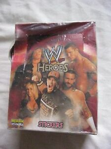 TOPPS MERLIN SEALED BOX OF WWE HEROES STICKERS 50 PACKETS - Eltham, London, United Kingdom - TOPPS MERLIN SEALED BOX OF WWE HEROES STICKERS 50 PACKETS - Eltham, London, United Kingdom
