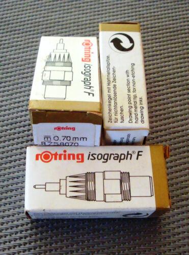 rotring isograph F Zeichenkegel 0,7 mm Hartmetallspitze Art R 758070
