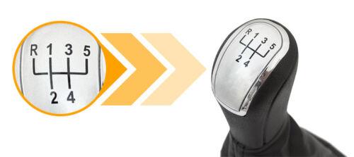 KSR2 Schaltknauf 5 Gang mit Schaltsack und Rahmen passend für Skoda Fabia I