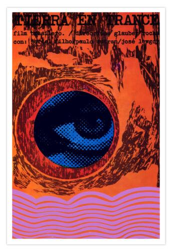 "Movie Poster for Brazil film/""TIERRA en Trance/""art.Home room Decor.Cerebral art"