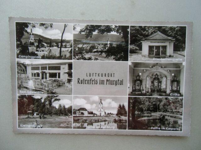 Ansichtskarte Rotenfels im Murgtal 1956