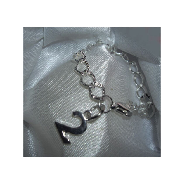 Age 2 charm bracelet,  Silver plated bracelet, REDUCED TO CLEAR