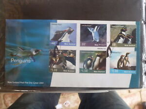 NEW-ZEALAND-2001-PENGUINS-SET-6-STAMPS-FDC-FIRST-DAY-COVER