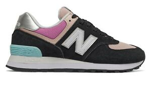 NEW-BALANCE-574-Classic-Scarpe-Donna-Sneakers-BLACK-ROSE-WL574SOS