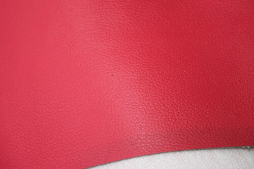"11 MTRS QUALITY ROSE SCARLET VINYL SEAT CUSHIONS upholstery FABRIC 55"" VIN46"