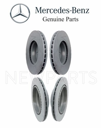 For Mercedes W211 E350 E500 Pair Set of Front /& Rear Brake Disc Rotors Genuine