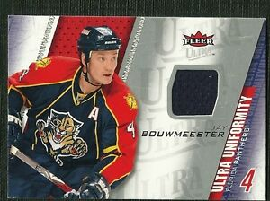 cheap for discount fa99b 8a55e Details about JAY BOUWMEESTER 09-10 ULTRA UNIFORMITY GAME WORN JERSEY  FLORIDA PANTHERS