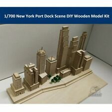 1/700 Scale New York Harbor Port Dock Scene DIY Wooden Assembly Model Kit CY701