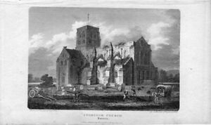 Sussex-Shoreham-Church-Drawn-And-Engraved-By-G-Cooke