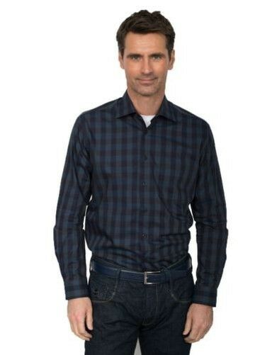 GCM puro cotone quadri camicia con cutaway colletto (3605) in Taglia 2XL to 6XL