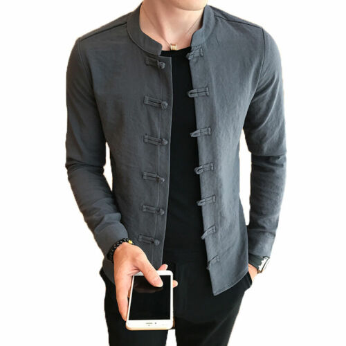 Camisa de cuello mandarín CAMISA Moderna camisas hombre XXX62