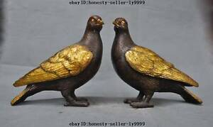 8-034-chinese-fengshui-bronze-gilt-animal-bird-pigeon-dove-lucky-auspicious-statue