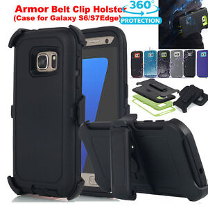 official photos 16bb4 acfd6 Details about Fr Samsung Galaxy S6/S7 Edge Heavy Duty Hard Case (Belt Clip  fits Defence Cover)