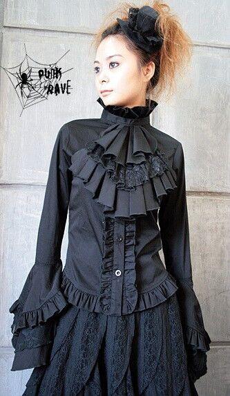 Visual KEI Punk Kera Lolita Rock Goth T-shirt EMO NANA FREE SHIPPING SIZE S-L