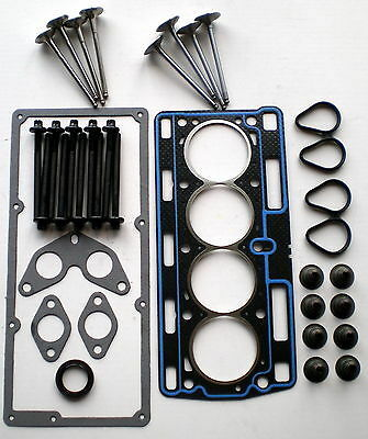 Pour Renault CLIO 1.2 8 V 01 Sur D7F Head gasket set Bolts 4 Inlet 4 exhaust Valves