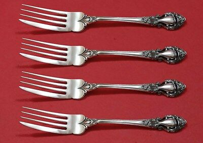 """Candid Royal Dynasty By Kirk-stieff Sterling Silver Fish Fork Set 4pc As Custom 7 1/2"""" Other Antique Furniture"""