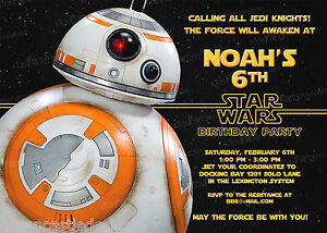 20-BB8-Star-Wars-The-Force-Awakens-Birthday-Party-Invitations-Printed-D13