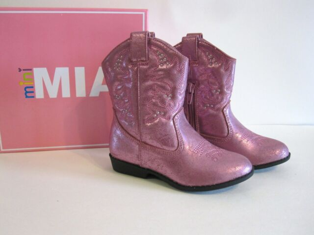4c860ec6352 Mini Mia Toddler Size 6 Cowboy Cowgirl BOOTS Pink Western Retail