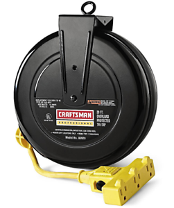 Retractable Extension Cord >> Details About Craftsman Professional 30 Ft Power Garage Outlet Retractable Extension Cord