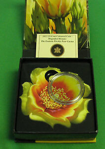 Canada 2013 25 Cents The Eastern Prickly Pear Cactus Coloured Coin