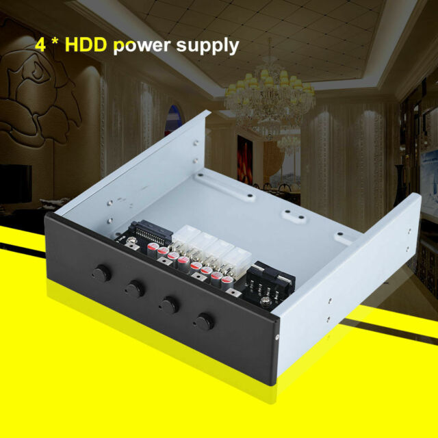 HDD Power Switch Module 4Channels SATA IDE Hard Drive Switcher Dual USB Port New