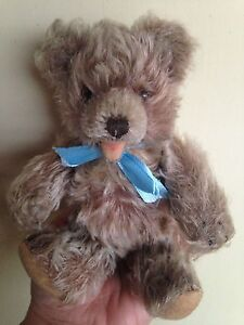"""Steiff Jointed Zotty Teddy Bear Mohair 7"""" Glass Eyes Vintage Excellent NO ID NR"""