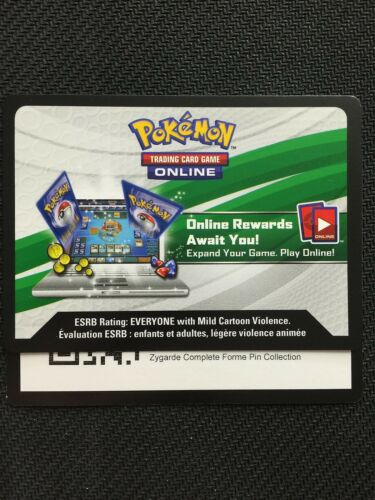 SM PROMO ZYGARDE Complete Collection Box SM15 Online Code Card Pokemon TCG