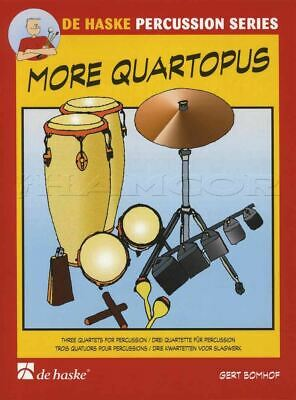 More Quartopus 3 Quartets For Percussion Sheet Music Book Score & Parts