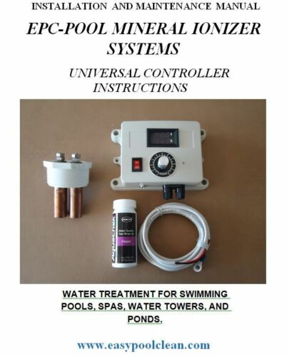 POOL IONIZER PURIFIER ELIMINATE UP TO 90/% CHLORINE IN POOL AUTO CLEAN 50K GAL.