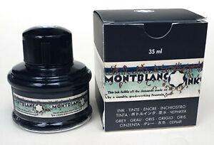 MONTBLANC Tinte, Tintenfass, Meisterstück 90 Years, 35 ml Permanent Grey, NEU!