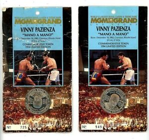U-Pick. 1994 MGM Grand $1 Commemorative Boxing Tokens Foreman Pazienza