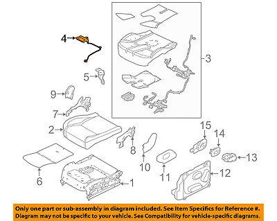 GM Supplemental Restraint System Passenger Discriminating Sensor OEM 13578676