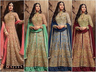 Indian Bollywood Ethnic Salwar Kameez Designer Anarkali Suit with Lengha KR