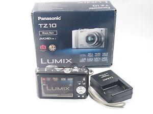 Panasonic-LUMIX-DMC-TZ10-12-1MP-Digital-Camera-Black-Box