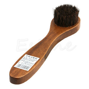 Long-Wood-Handle-Bristle-Horse-Hair-Brush-Shoe-Boot-Polish-Shine-Cleaning-Dauber