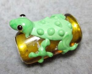 .925 MURANO GLASS BEAD FOR Charm European Bracelet Frog Toad