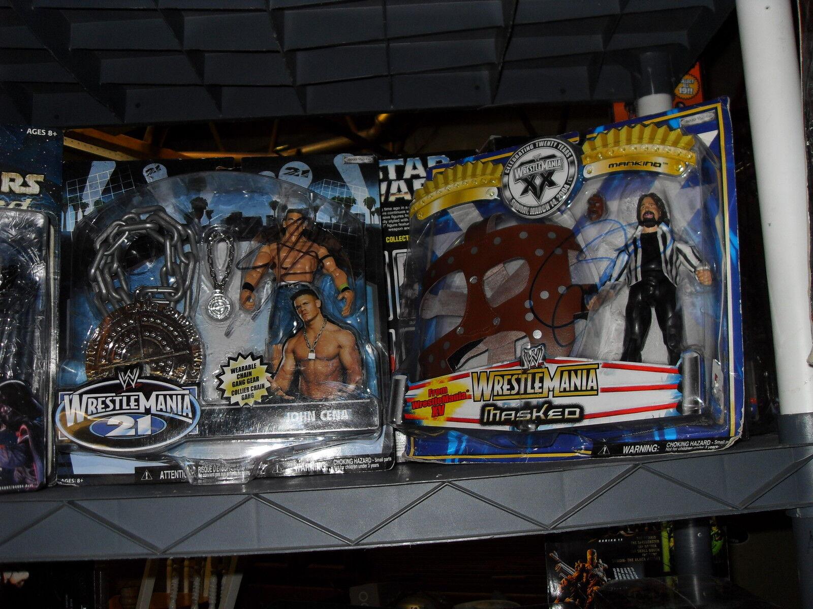 WWE JOHN CENA FIGURE AUTOGRAPHED W WEARABLE CHAIN GANG