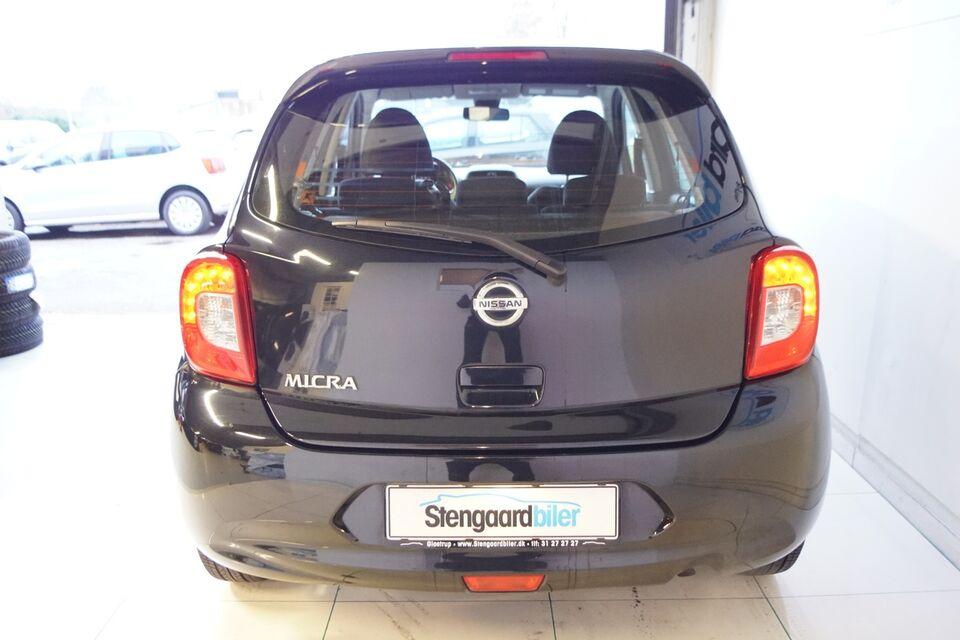 Nissan Micra 1,2 Acenta Benzin modelår 2015 km 48000 Sort