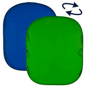 Lastolite-LC-5687-Chromakey-Collapsible-Reversible-Background-5-039-x6-039-Blue-Green