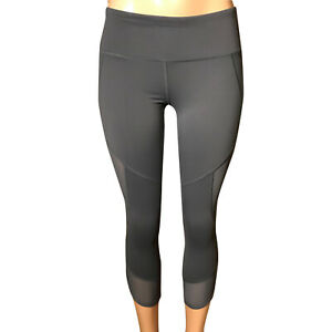 ACTIVE LIFE Women's  Yoga Capris Size Medium  Mesh Leg Active Capris
