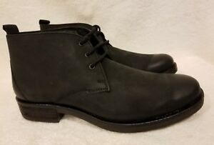 08a4b17a9 Details about NEW CLARKS Mens Oxfords Black Leather Ankle Boot Shoes 34104