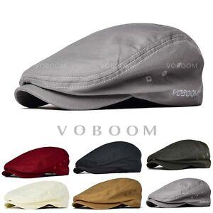 1bbdae9541d Details about New Men s 100% Cotton Gatsby Cap Beret Ivy Hats Golf Flat  Cabbie Newsboy Caps