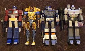 Hasbro Transformers R.E.D. Series Lot Optimus Prime Megatron Soundwave Cheetor