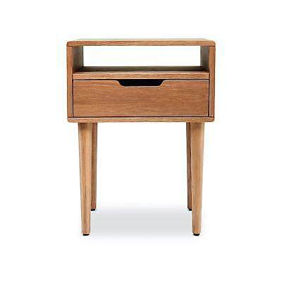 Simba Oak Bedside Table Nightstand Cabinet 1 Drawer - 58 x 43 x 40 cm